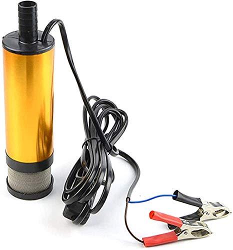 Bomba de aceite eléctrica multifuncional de 12 / 24V, bomba de transferencia de combustible diesel con filtro, bomba de agua diesel de riego de 8 mm de diámetro, bomba de agua sumergible (50MM,12V)