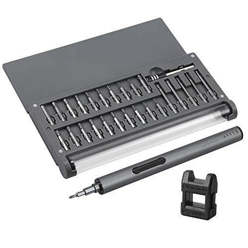 Proster 59 in 1 Kit Mini Cacciavite di Precisione Set Cacciaviti con 55Pz Inserti per Cacciavite Mini Cacciavite Elettrico 150r/min con Tappetino Magnetico per Riparazione Telefono Computer Tablet