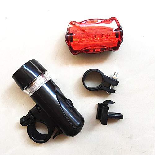 5 LED delantera de la bicicleta luz de la cabeza de la cola + sistema de la luz impermeable montaña del camino MTB posterior de la bici de la linterna de la lámpara de ciclo de luz Luces Bicicletas