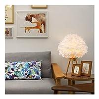 フロアランプ学生の寝室のベッドサイドテーブルランプクリエイティブ三脚リビングルーム垂直ライトシンプルなフェザー装飾フロアライト (Color : D)