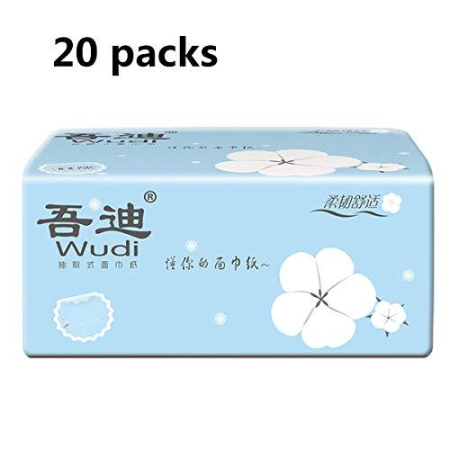 JX-PEP toiletrollen toiletbril 4Ply 20 packs, zachte zachte bulk toiletpapier rol toiletpapier rolt doordringbaar zacht schoon toiletpapier voor thuis keuken badkamer