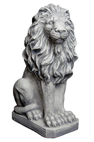gartendekoparadies.de Herrlicher Löwe Blickrichtung rechts aus Steinguss, frostfest