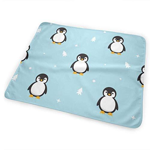 Cambiador de pingüinos sin costuras, impermeable, portátil, grande, para cambiar pañales, funda...