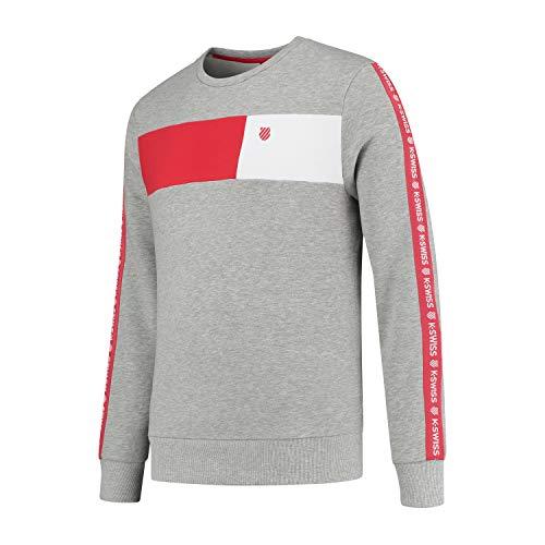 K-Swiss Sport Heritage C-Neck Sweat Block, Unisex Adulto, Gris, Small