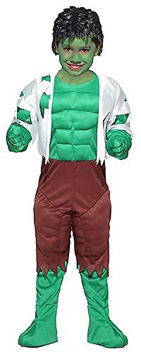 VENEZIANO Costume di Carnevale da Mostro Verde Baby Vestito per Bambino Ragazzo 1-6 Anni Travestimento Halloween Cosplay Festa Party 28016 Taglia 4