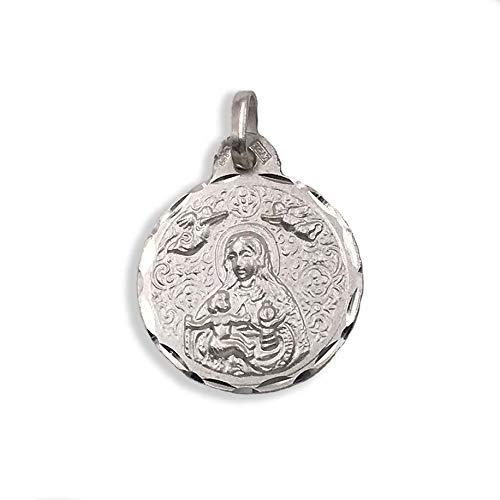Medalla Religiosa - Virgen de la Cinta 19 mm. Plata de Ley 925 milésimas