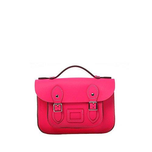 Viviesta Damen Umhängetasche, Leder, 21,6 cm, Neonfarben, Pink - neon pink - Größe: One Size