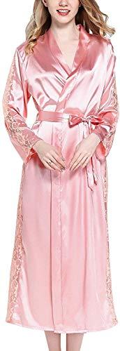 ZYEZI Albornoz de Mujer Pijamas de satén, Kimono de Seda
