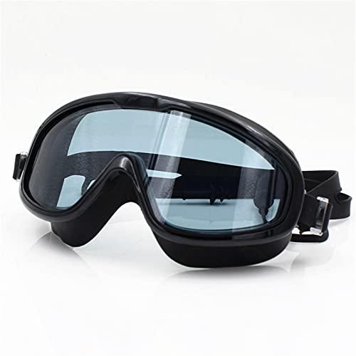 YWSZY Gafas Natacion, Anti-Niebla y Gafas Anti-ultravioletas y Gafas de Mujer natación Grande-Marco Impermeable Suave Silicona natación Gafas de natación (Color : Negro)