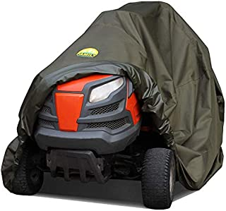 Family Accessories Riding Lawn Mower Cover, 100% Waterproof Heavy Duty 600D Storage for Ride On Lawnmower Tractor, Up to 54 Inch Deck, 72Lx44Wx43H