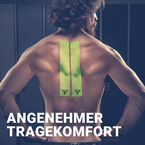 TRUETAPE ATHLETE EDITION | vorgeschnittenes Kinesiologie Tape | True Lime | Physio-Tape | Kinesiotapes | 20 vorgeschnittene Streifen | CE Zertifiziert | Farbauswahl | Aufbewahrungsbox | 40 Anleitungen - 3
