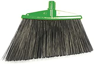 Angle Broom with Bristles Color: Green