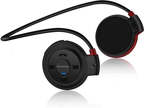 Auriculares Bluetooth Deporte, Estéreo Auricular V4.1 Deportivo Resistente al Sudor, Soporte Tarjeta TF Jugar y Radio FM, Cascos Inalámbricos Deportivos con Micrófono para Running, Fitness, Viajes