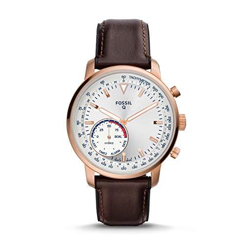 Fossil Hybrid Smartwatch Fossil Q horloge Goodwin bruinleren herenhorloge (FTW1172)