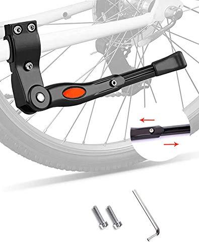 Trípode de bicicleta,bicicleta de montaña,bicicleta infantil,aleación de aluminio,soporte lateral para pies,altura ajustable de 5cm,fácil instalación adecuada para una variedad de bicicletas
