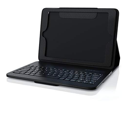 CSL - Bluetooth Tastatur inkl. gummiertem Kunststoffcase Schutzhülle - Magnetische Befestigung - QWERTZ-Layout - kompatibel mit Tablet 9.7 Zoll 5th Gen.