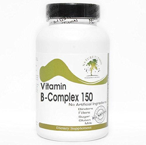 B-Complex 150 Vitamin ~ 200 Capsules - No Additives ~ Naturetition Supplements