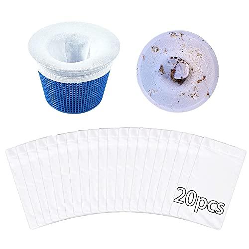 20 calcetines para skimmer de piscina, filtro de piscina, filtro de skimmer para piscina, filtro de filtro,filtro de tela de nailon, herramienta de limpieza de piscina.