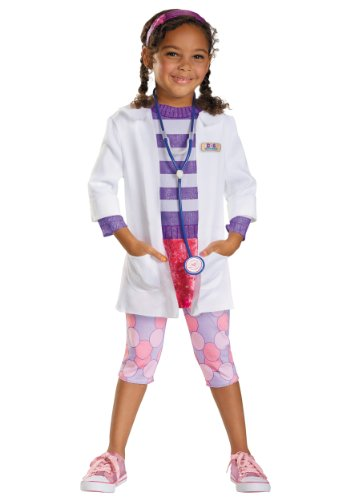 Disguise Disney Doc McStuffins Deluxe Girls' Costume One Color, 3T-4T