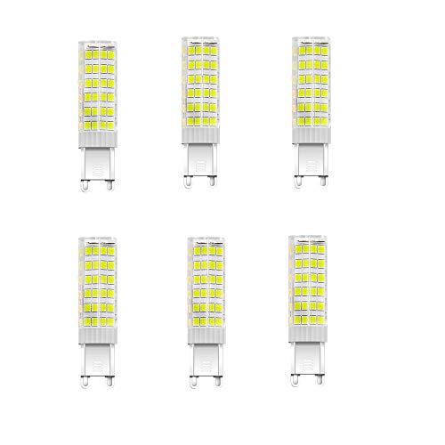 NUOXIN Confezione da 6 Lampadine LED G9 7 Watt, 700 Lumen (Equivalente alla lampadina alogena G9 70w) G9 7W Bianca Fredda 6000K AC 220-240V Non Dimmerabile