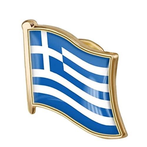 1pc De La Solapa De La Bandera Griega Pin Pin De Metal Bandera Griega Broche De La Insignia Nacional De La Novedad De Accesorios