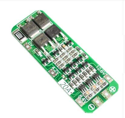 SIMNO JIAHONG 1S 2S 3S 4S 3A 20A 30A Batería de Litio Litio Litio 18650 Cargador PCB BMS Tablero de protección para Motores de Taladro Módulo de células LIPO 5S 6S (Color : 3S 20A 12.6V)