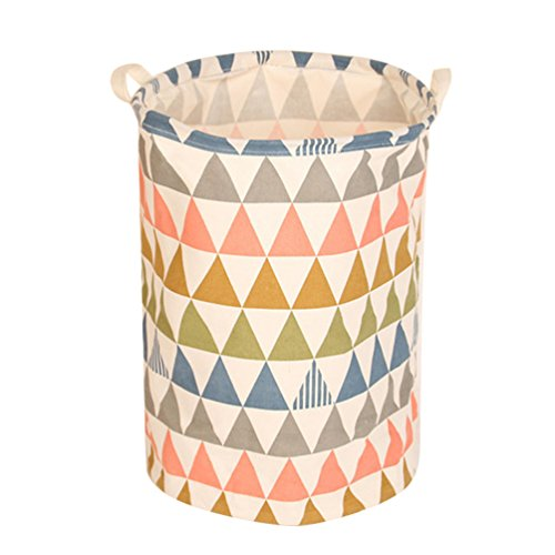 Dooxi Stoff Aufbewahrungs Körbe Rund Wäschebehälter Wäschesammler Faltbar Wäschekorb für Laundry Schmutzwäsche Kinder Spielzeug Organizer Aufbewahrungsbeutel mit henkel