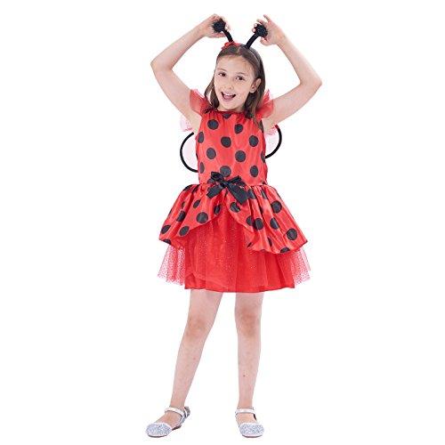 IKALI Costumi da Coccinella Bambina, Ragazze Tutu di Ballerina Travestimentocon l'ala per la Festa di Halloween