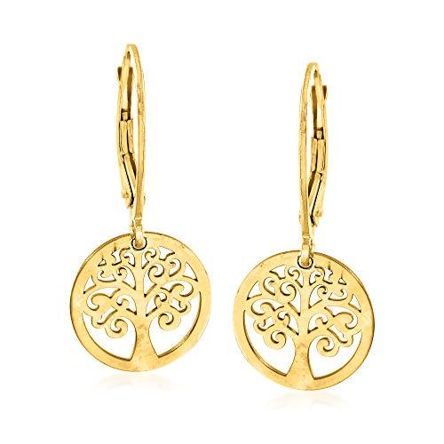 14k italian white gold earrings - 9