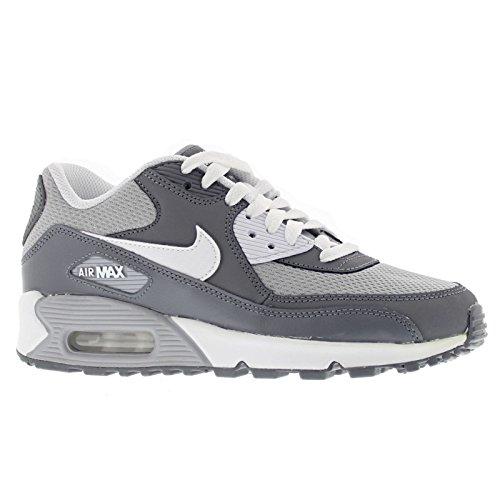 Nike Air Max 90 Mesh (Gs), Zapatillas de Running para Niños, Gris (Wolf Grey/White-Cool Grey), 38 EU