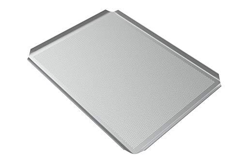 LEHRMANN bakplaat 44 x 35 cm baguetplaat gatplaat pizzaplaat bakplaat voor oven oven oven oven Siemens Bosch Neff