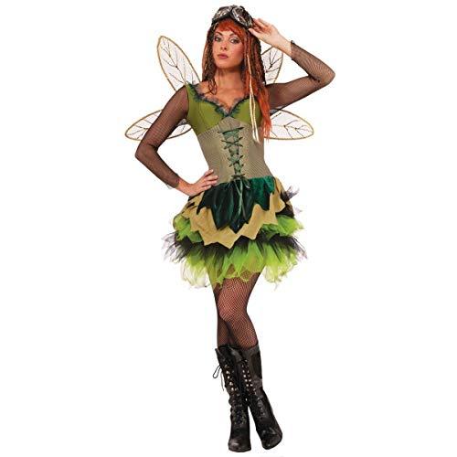 Forum Novelties Women's Steampunk Fairytales Sprocket Pixie Costume, Green, Medium/Large