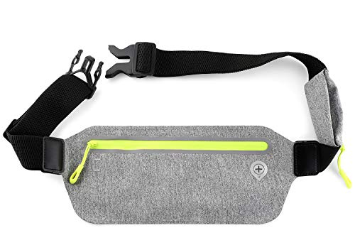 Running Fanny Pack and Waist Belt. Ultra Thin and Lightweight. Fits iPhone, Keys. for Jogging, Hiking, Traveling, Dog Walking. Reflective for Night Safety. by TrustedTrav