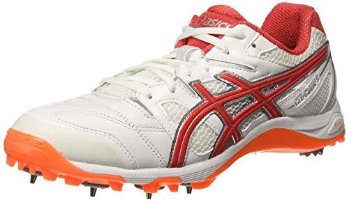 ASICS Men White/Red Cricket Shoes-9 UK/India (44 EU)(10 US) (P530Y.100-9-WHITE/RED Alert)