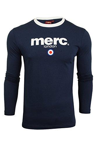 Merc of London Fight, T-Shirt, Bleu (Navy), Medium (Taille fabricant: M) Homme