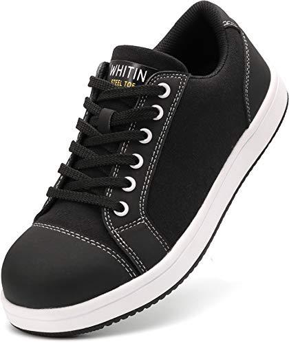 WHITIN Zapatos de Seguridad Hombres Zapatillas de Trabajo con Punta de Acero...