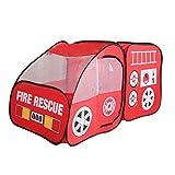 Camión de bomberos Carpa for los niños, niños pequeños, niños y niñas - Motor fuego Pop Up Pretend casa de juegos for Interior y Exteriores - Quick Set Up, la prueba del tiempo Tela, plegable y espaci
