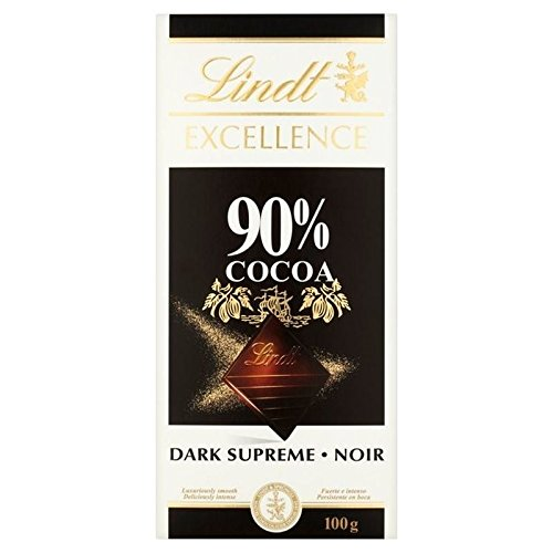 Lindt Excellence Supreme 90 % dunkle Schokolade, 100 g (6 Stück)