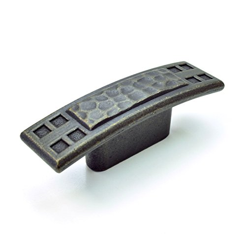 (10-Pack) Hammered Mission/Craftsman Style Kitchen Cabinet Knob Pulls,...