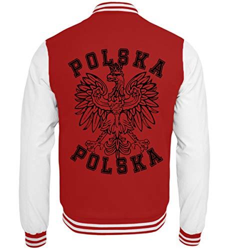Hochwertige College Sweatjacke - Polnische Flagge Polska Adler Fahne Wappen Geschenk Polen Länder Fan Shirt