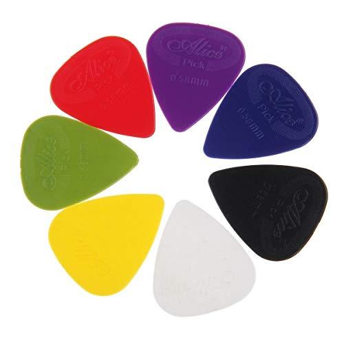 Alice - Set di 12 plettri in nylon per chitarra, con superficie ruvida per una migliore presa, .58 mm