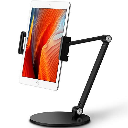 Viozonタブレットスタンド アーム ホルダー マウント、360度回転、高さと角度を調整可能、4.5-13携帯電話とタブレット、iPhone、iPadタブレットスタンド(AP-7LB)