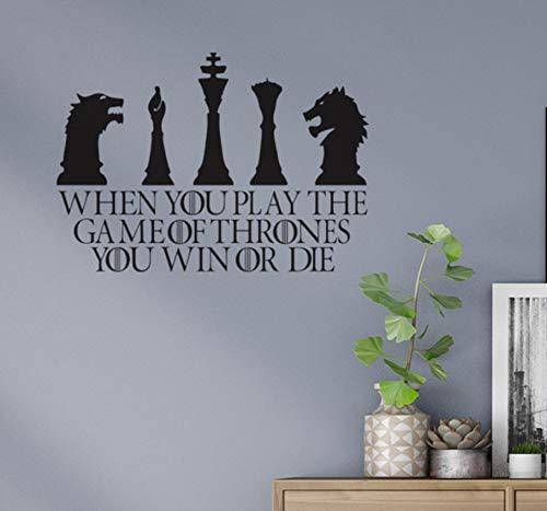 Black International Chess Pattern jeu Stickers muraux Salon Chambre TV Canapé Fond Amovible autocollants en vinyle autocollant