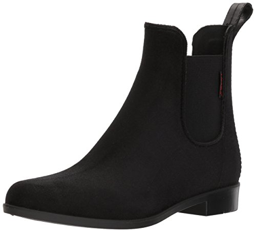Chooka Women's Waterproof Fashion Velvet Bootie with Memory Foam, Black, 8 M US