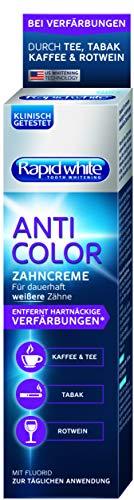 Rapid White Anti Color toothpasta, whitening-tandpasta voor wittere tanden, tandbleken voor thuis, zonder waterstofperoxide