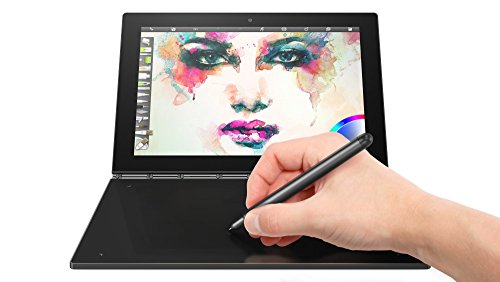 Lenovo Yoga Book 25,5 cm (10,1 Zoll Full HD IPS Touch) Convertible Tablet-PC (Intel Z8550, 4GB RAM, 64GB eMMC, LTE, Android 6.0) grau, QWERTY Tastatur