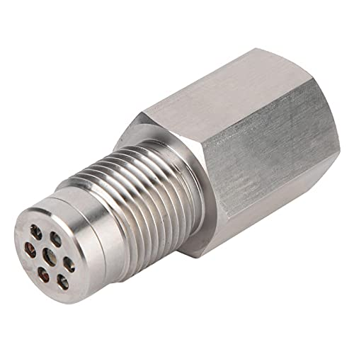 Adaptador recto de enchufe de carcasa protectora de sensor de O2 de acero inoxidable con mini catalizador M18x1.5