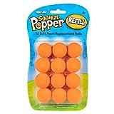 Hog Wild Orange Popper Refill Balls, Pack of 12 - for Poppers and Power Popper Toys - Age 4+