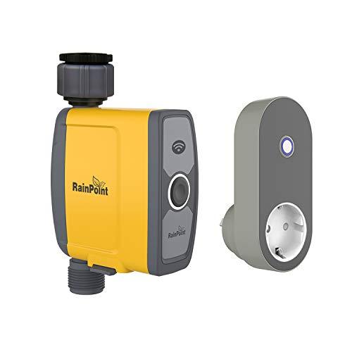 Rain Point WiFi Intelligenter Bewässerungscomputer mit App steuerbar,Garten Bewässerungssystem Bewässerungsuhr, Wasserdicht Automatische gartenbewässerung für Garten Gewächshaus Landwirtschaft(103W)
