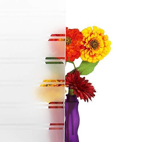 Solar Screen 5,91€/m² Milchglasfolie gestreift Sichtschutzfolie STRUCTUR 152cm Breite Laufmeterware Fensterfolie Selbstklebend Folie Dekofolie mit Streifen/Linien Milchglas